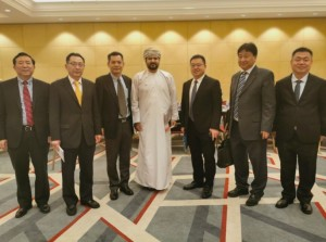 Photo of the Seminar Between CCPIT (China Council for the Promotion of International Trade) and Its Business Representative and Oman Chamber of Commerce & Industry (Middle: Yusuf -President of Oman Chamber of Commerce & Industry; third from right: Lu Jinhui, - Deputy General Manager of Lehua Home Furnishing Group)